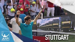Federer Shows Speed To Clinch Win Against Kyrgios In Stuttgart 2018 SF