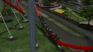Carowinds Intimidator Fly Around View  (new For 2010)
