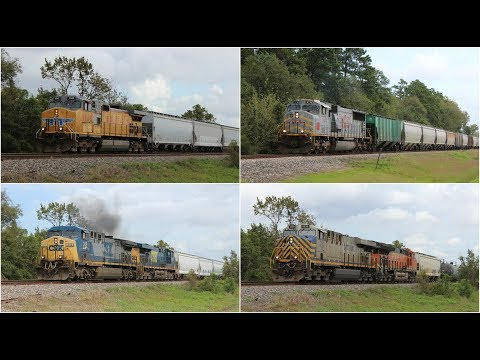 Railfanning UP Houston Sub 10/21/17 ft UP D9, UP T4, gray MAC, YN2 AC44, CREX, & more!