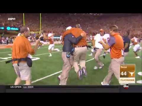 Tyrone Swoopes game-winning touchdown in Double OT - Notre Dame vs Texas