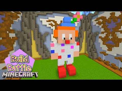 Minecraft Build Battle - TEMA PALHAÇO E CUPCAKE