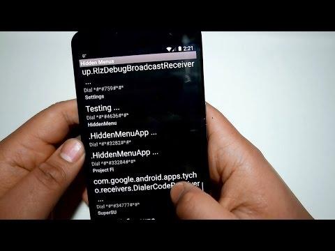 Android Hidden Menus App