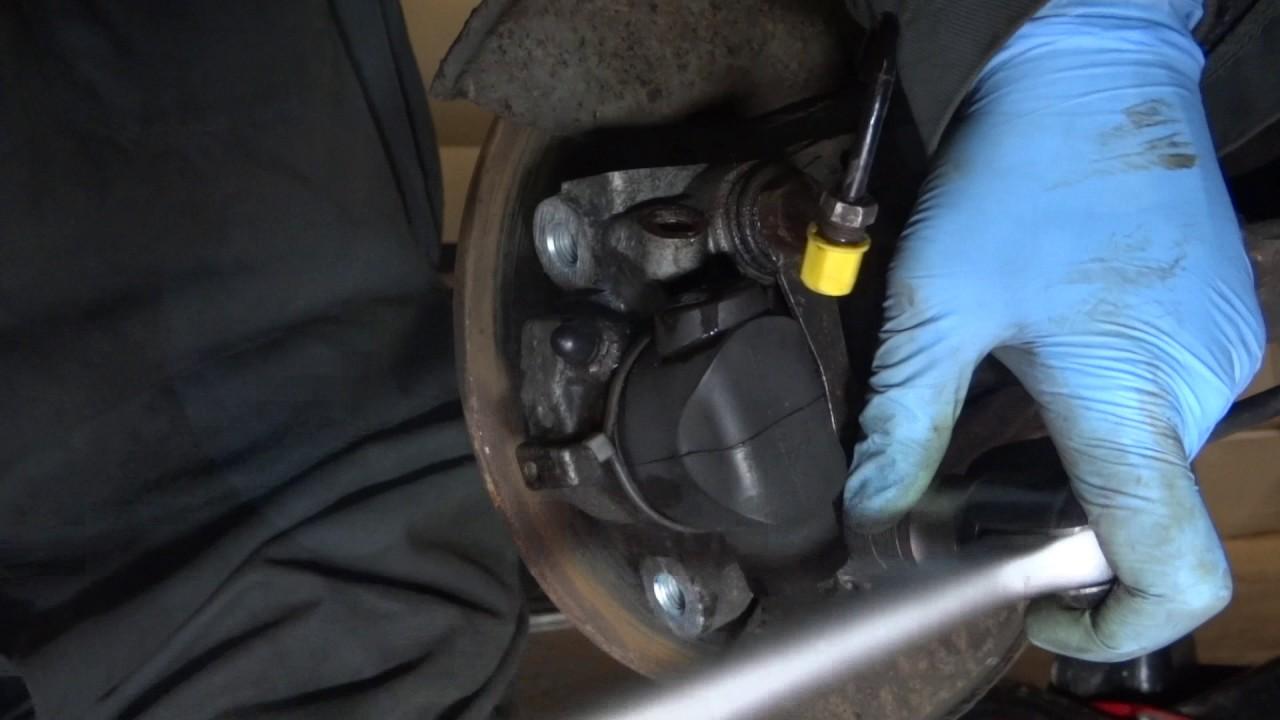Citroen Xsara rear calliper handbrake replacement YouTube