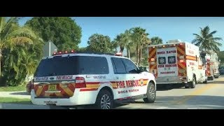 Boca Raton Fire Rescue and Police On Scene Of A Cardiac Arrest