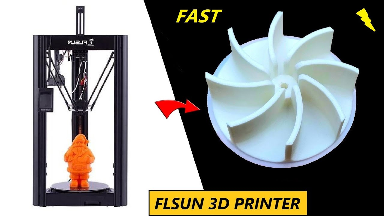 Woohoo ! Fast FLSUN SR Racer 3D Printer - Turbine Printing Test & Review