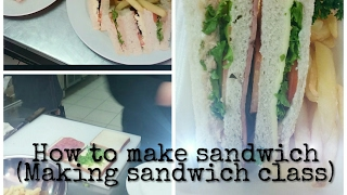 How to cut sandwich (finger & triangle)