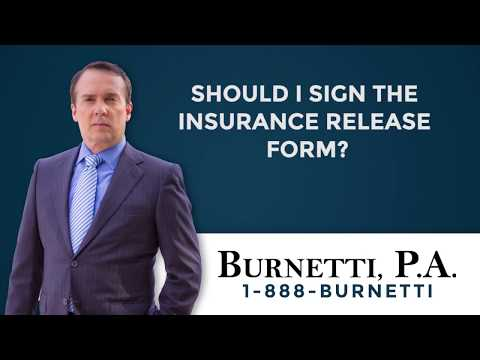 Should I Sign The Insurance Release Form?