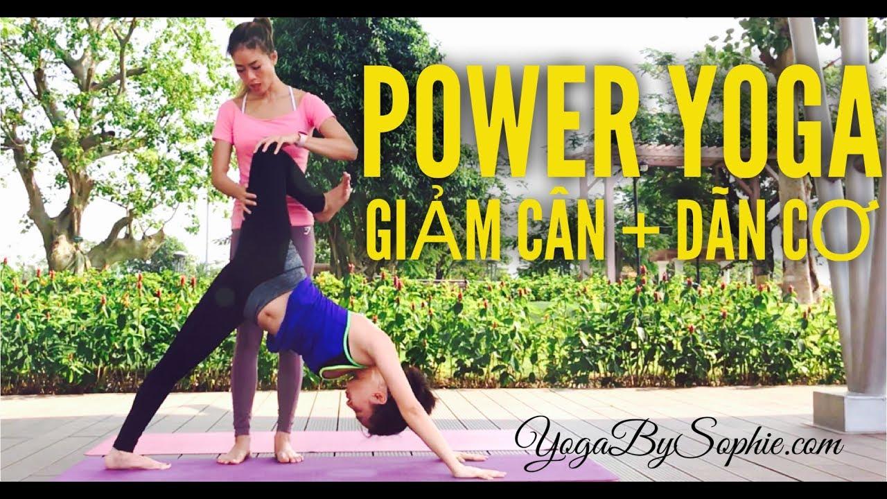 Yoga Giảm cân + Dãn cơ + Baby crow (60mins, All levels) | YogaBySophie.com