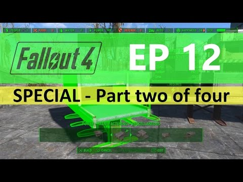 Fallout 4 : EP12 - Food facility FULL build - Part two of four
