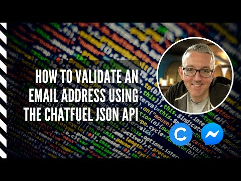 How to validate an email address with the Chatfuel JSON API