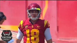 College Football Highlights: USC wins in JT Daniels' first start, Jake Olson shines late | ESPN