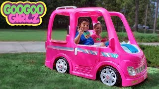 Goo Goo Girlz & Her Barbie Car! (Learn Colors During Pretend Play Camping Adventure)