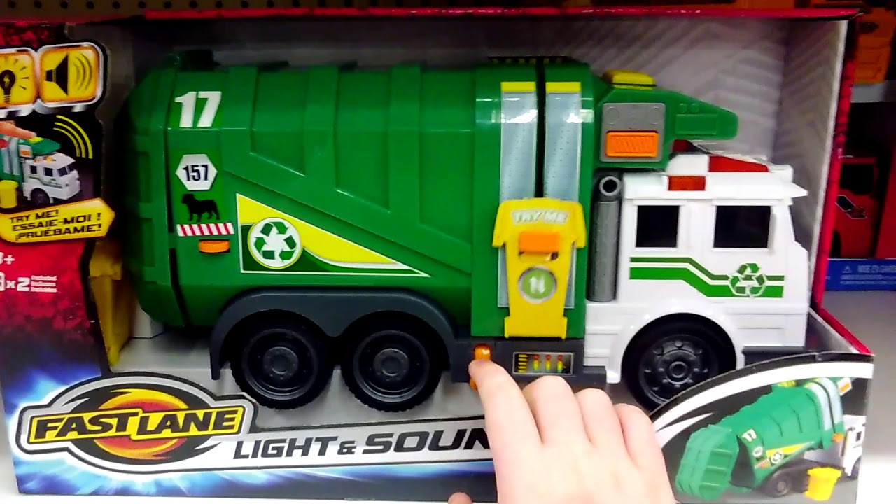 Fast Lane Light Amp Sound Garbage Truck Green Youtube