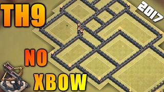 TH9 WAR BASE WITHOUT XBOWS 2017 ♦ TOWN HALL 8.5/8.75 NEW WAR BASE || CLASH OF CLANS