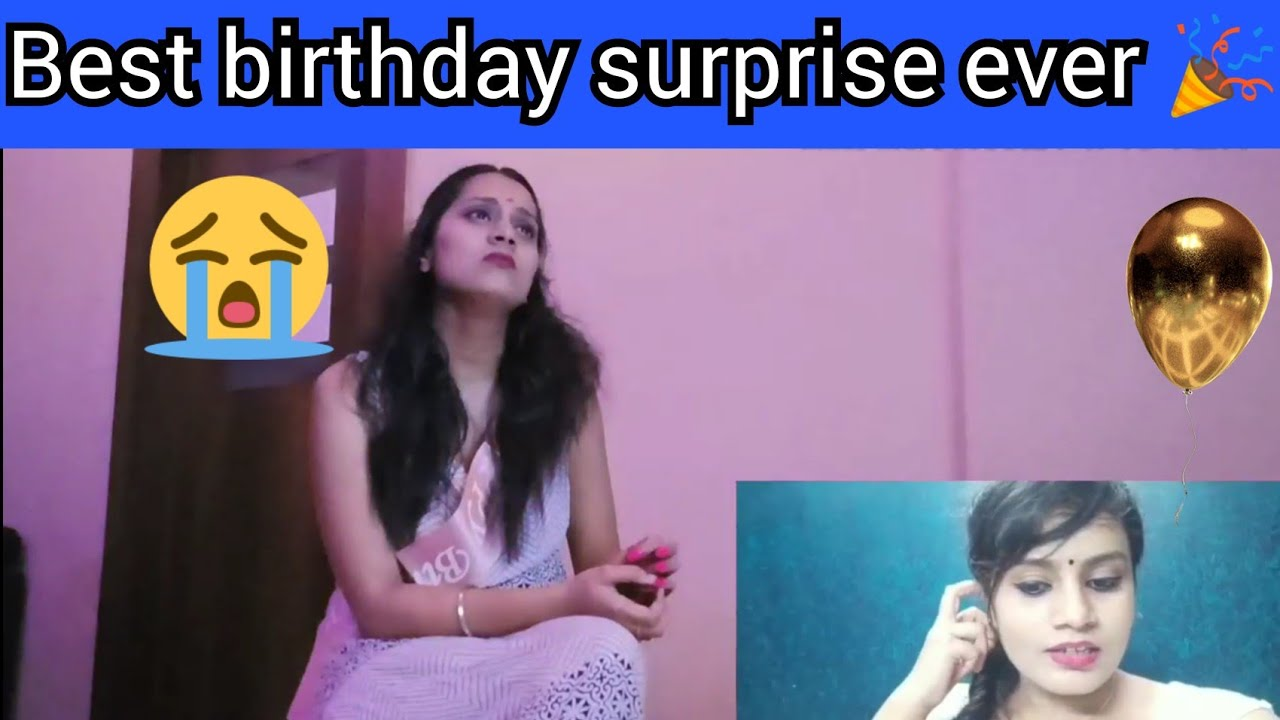 Quarantine birthday surprise video reaction  performed by all the friends and family