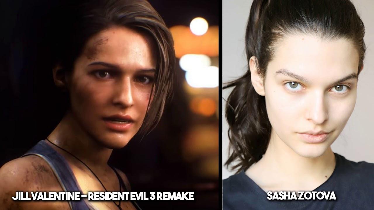 Resident Evil 3 Remake Real Face Model Sasha Zotova Update