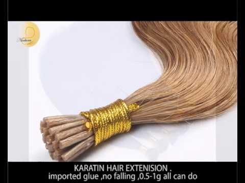 tape hair extension and karatin hair