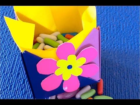Смотреть DIY Как сделать подарочную коробку из картона  своими руками