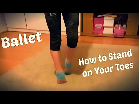 How to Walk on Tip Toes as a Ballerina.How to Do a Toe Stand.Как Ходить на Носочках