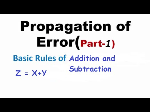 Basic Rules of addition and subtraction of Errors(Part-1), IIT-JEE physics classes