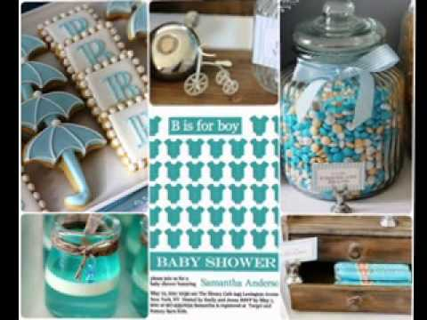 Diy boy baby shower invitation decorating ideas youtube for Baby clothesline decoration baby shower