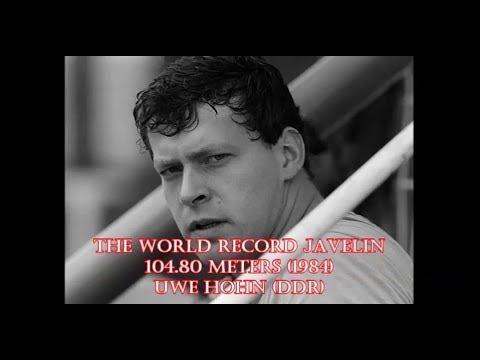 WORLD RECORD JAVELIN 1984 by UWE HOHN 104.80 meters