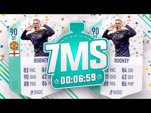 WALKOUT+INFORM IN A PACK! 🎉90 FUT BIRTHDAY ROONEY 7 MINUTE SQUAD BUILDER!! - FIFA 18 ULTIMATE TEAM