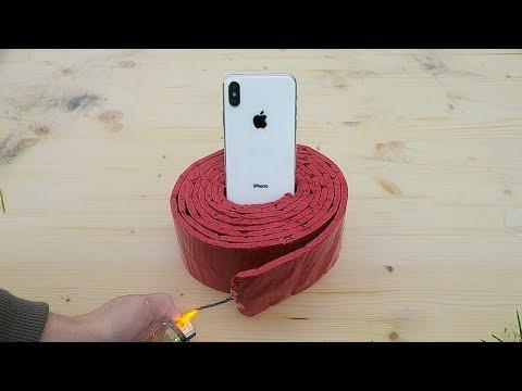EXPERIMENT iPhone X vs 1000 Firecrackers