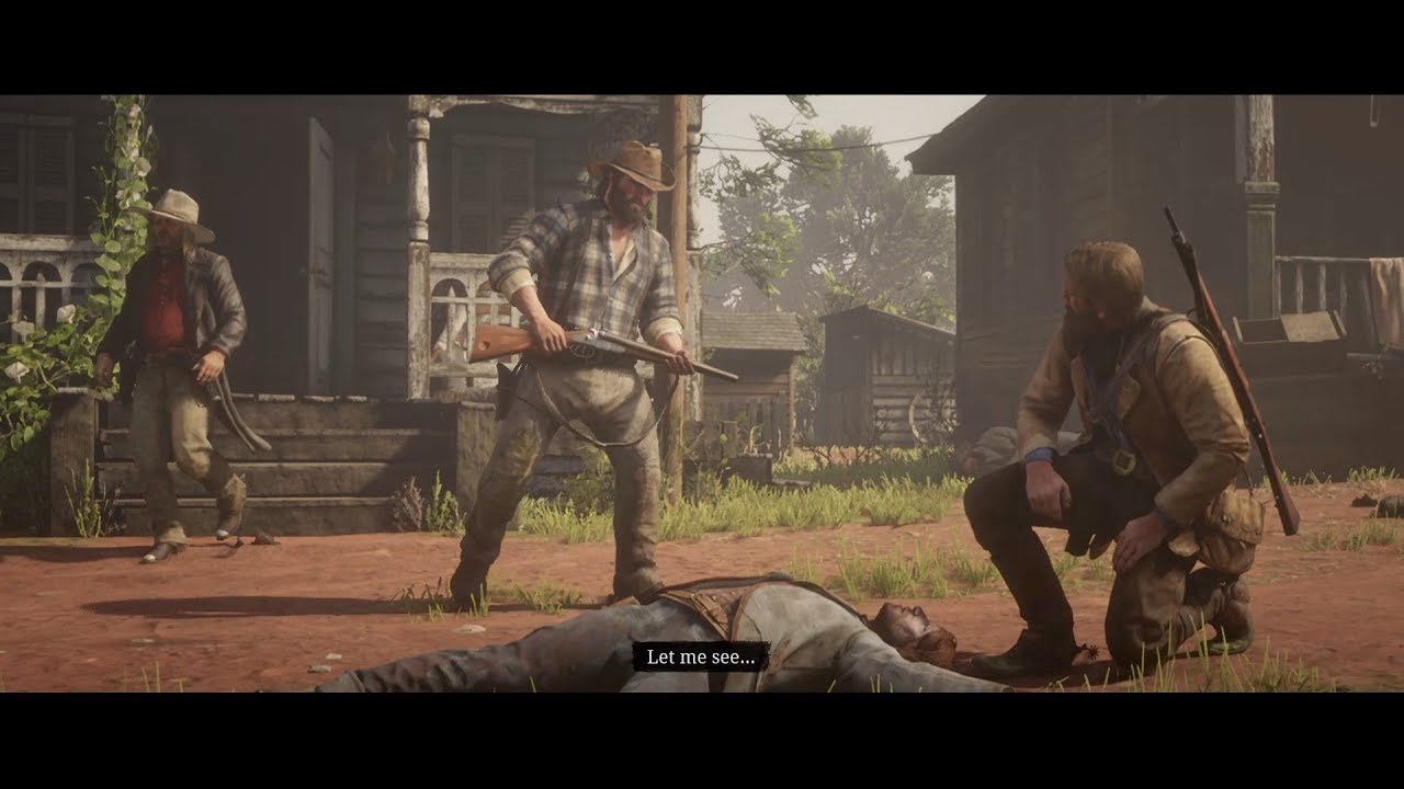 Red Dead Redemption 2 - The Grays Gunfight at Rhodes - YouTube