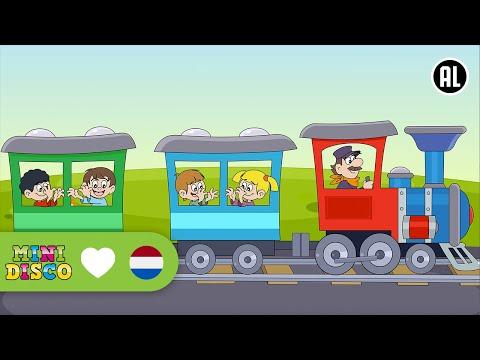 Een Treintje Ging Uit Rijden | Kinderliedjes | TEKENFILM | Peuters en kleuters | Minidisco