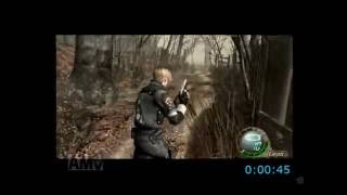 Resident Evil 4 Wii Edition New Game Pro speed run  1:48:28