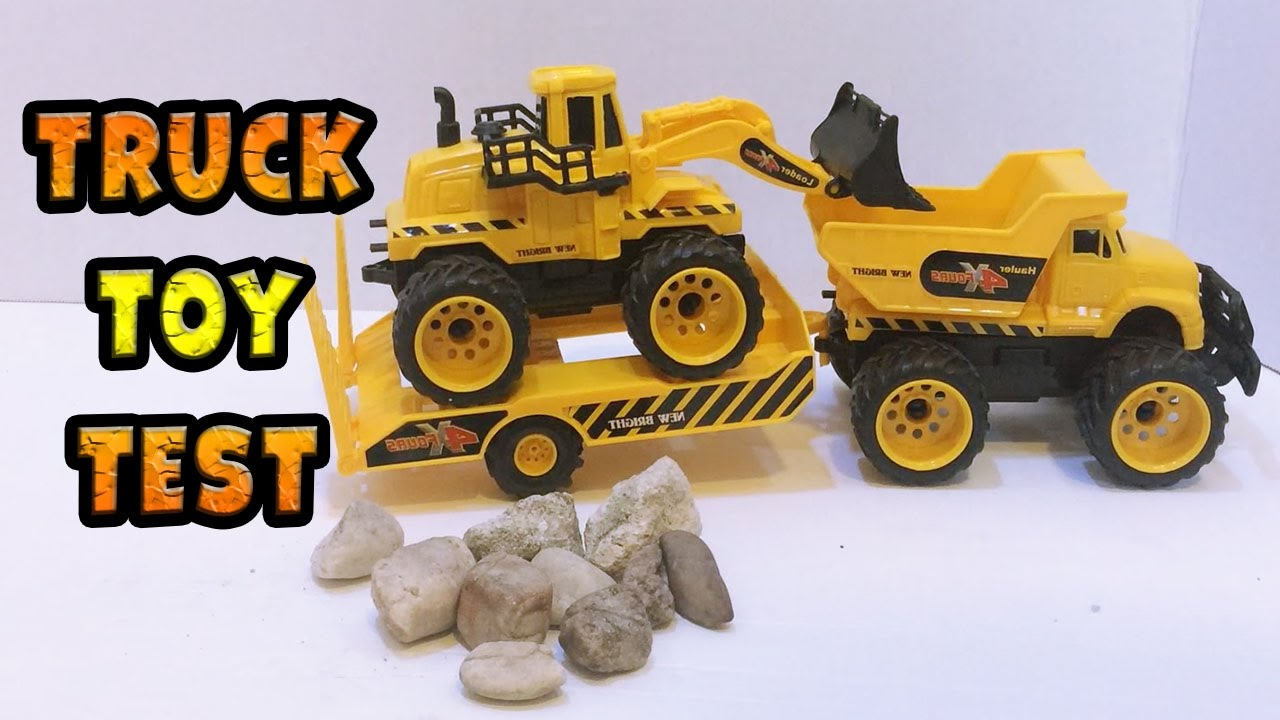 Digging Toys For Boys : Unpacking new digger excavator and truck for kids boy