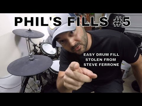 Phil's Fills #5 - Short and Easy Drum Fill - Stolen from Steve Ferrone
