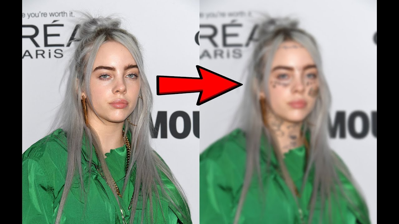 Lil Xan With Out Tattos: What If Billie Eilish Had Rappers Face Tattoos? (Post