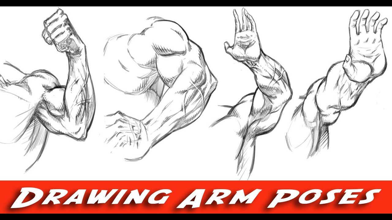 Drawing arms various poses comic book style youtube