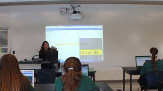 We Can Code IT: Mel teaches High School Girls HTML, CSS, and Javascript - More CSS and HTML