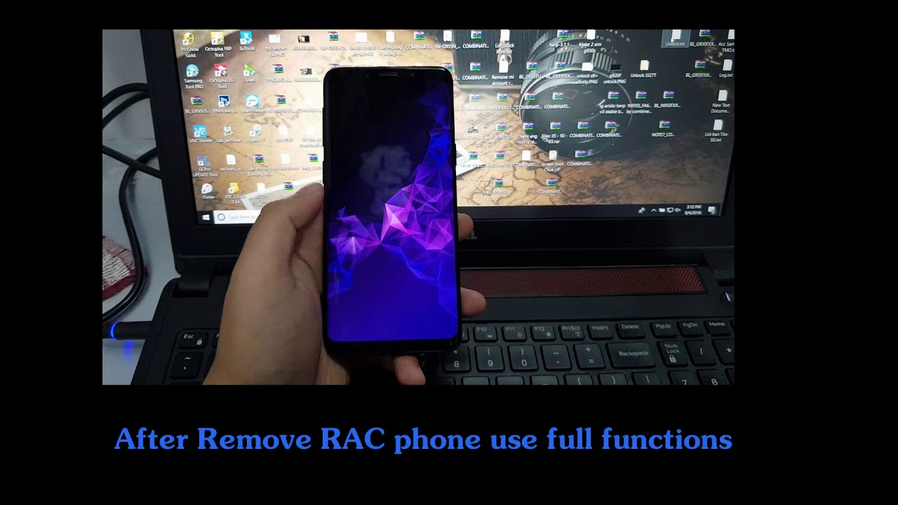 Remove RAC Rent a Center Lock Samsung S9 G960U & S9+ G965U Success