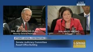 Senator Hirono Questions Sessions on Consent Decrees