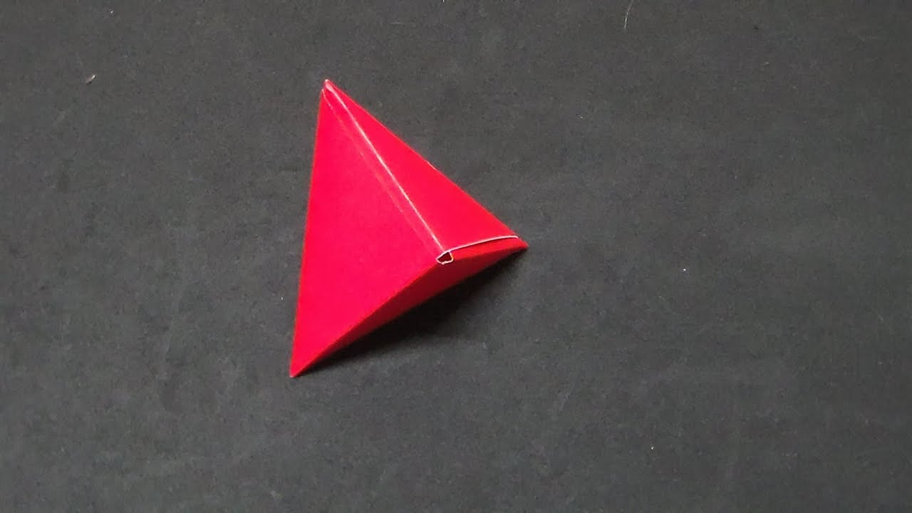 how to make an origami tetrahedron youtube