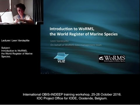 OBIS-INDEEP 25-28 Oct 2016 - Introduction to WoRMS.