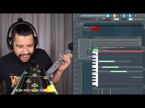 Making A Beat While PLAYING GUITAR HERO!