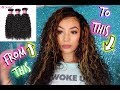 Adding Highlights & Styling My Curly Hair | Julia Hair