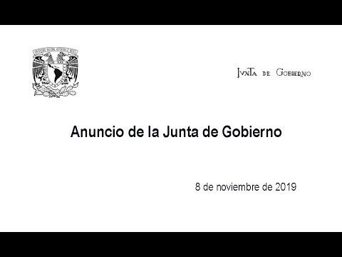 Anuncio de la Junta de Gobierno