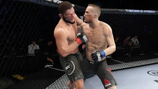 UFC 254 Khabib Nurmagomedov vs Justin Gaethje Full Fight Highlights | Khabib vs Gaethje (UFC 4)