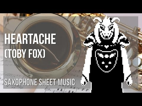 EASY Alto Sax Sheet Music: How to play Heartache by Toby Fox