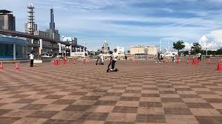 電動キックボードのシェアサービス「mobby」が神戸で体験会
