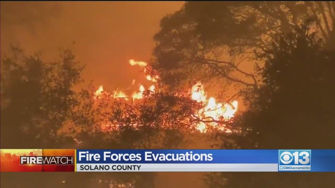 LNU Lightning Complex Fire Burns Towards Vacaville, Prompts ...