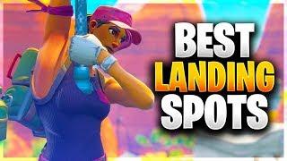 BEST LANDING SPOTS FOR EASY WINS! (Fortnite Battle Royale)