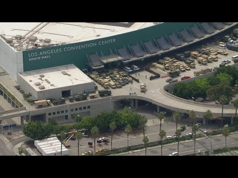 National Guard, police use L.A. Convention Center as staging area