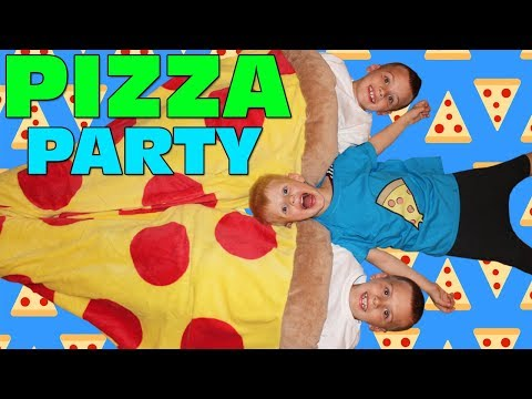 PIZZA OVERLOAD!!! Kids Homemade Pizza Challenge - Family Game Night